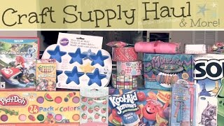 HUGE HAUL - Craft Supplies & More - Michaels, Target, WalMart, & Ebay | SoCraftastic