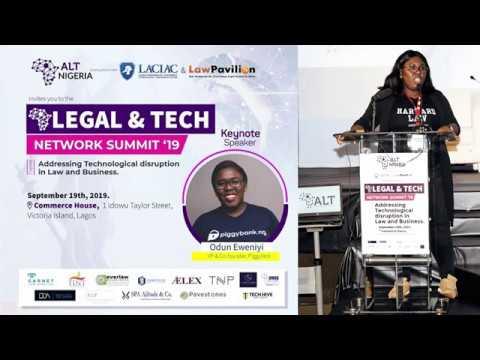 ALT Network, Nigeria Summit 2019 - Keynote (Odun Eweniyi, Piggyvest)
