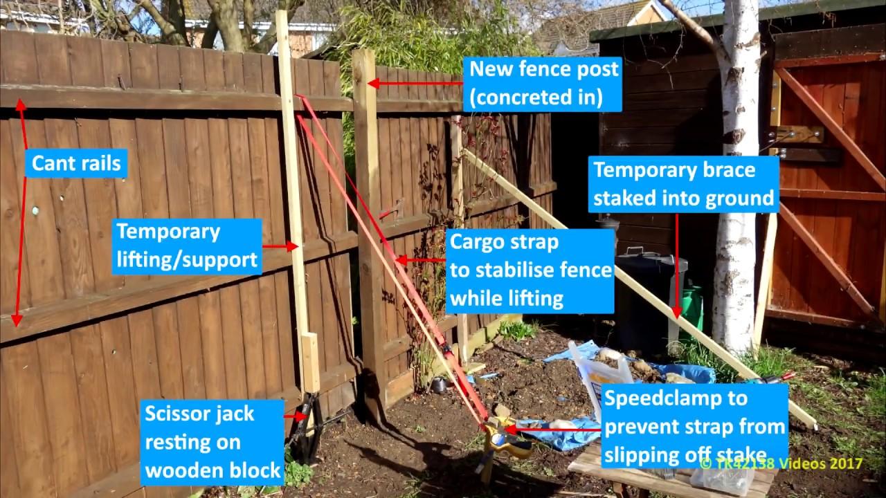How To Repair Garden Fence Using A Scissor Jack Cargo Strap
