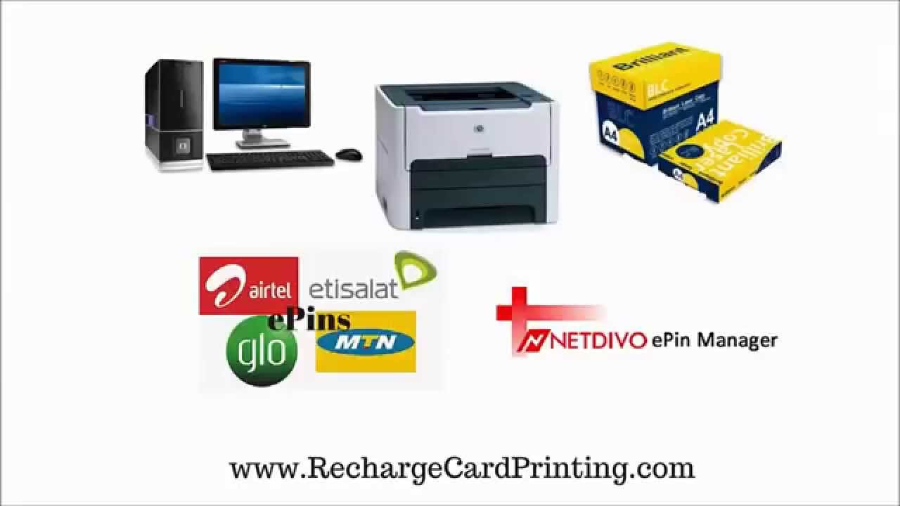 How To Print Recharge Cards/Vouchers With A Free Software