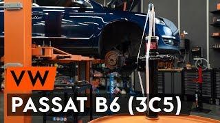Hvordan bytte fremre fjærbein der på VW PASSAT B6 (3C5) [AUTODOC-VIDEOLEKSJONER]