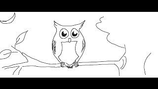 owl easy draw drawing cartoon