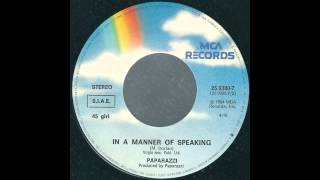 Paparazzi - In A Manner Of Speaking