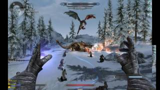Skyrim (32-bit) with Deadly Dragons + Dragon Combat Overhaul