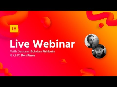 Elementor Live Webinar: How to Create a Landing Page Using Blocks