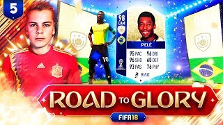 98 ICON PELE! 😱🔥 FIFA 18 WORLD CUP ROAD TO GLORY  🏆 #5