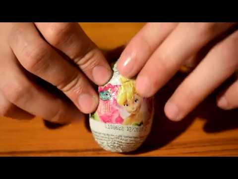 three easter eggs, one kinder surprise and two disney eggs unboxing
