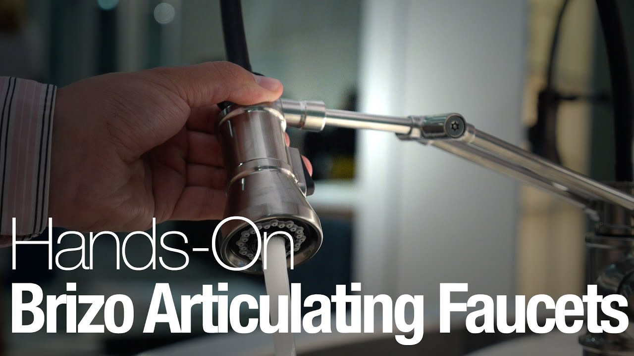 brizo s articulating kitchen faucets