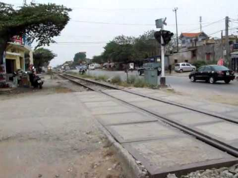 Vietnam railway from Hanoi to Saigon