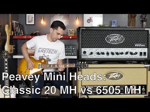 Peavey Mini Heads Series: Classic 20 MH vs 6505 MH - Amp demo