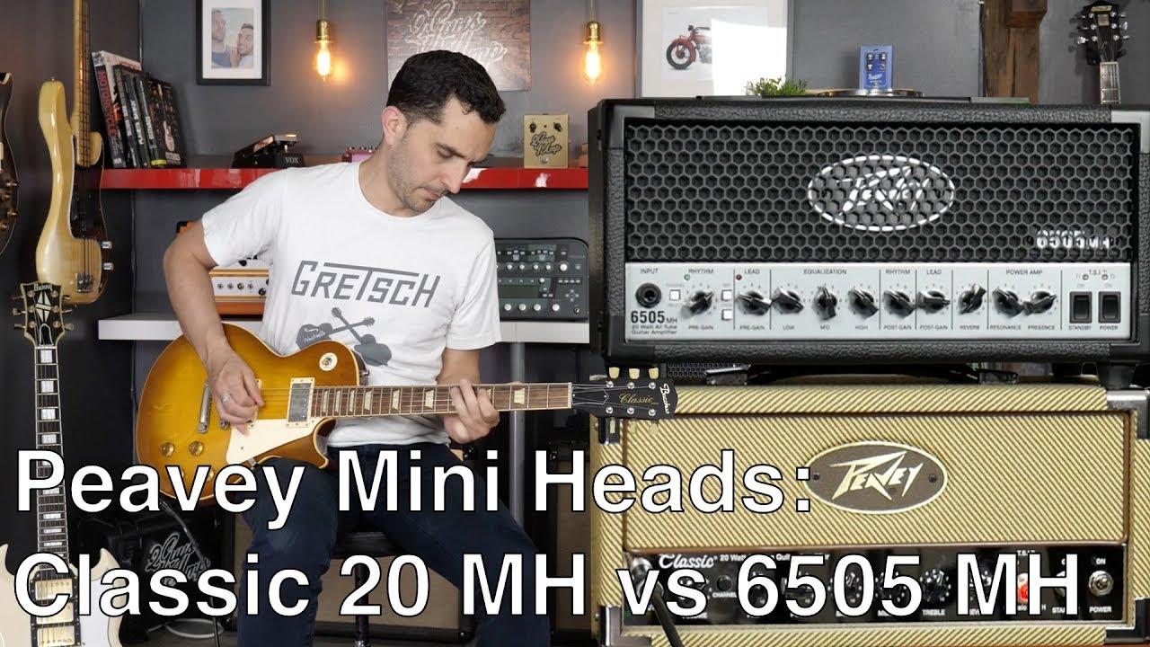 peavey mini heads series classic 20 mh vs 6505 mh amp demo youtube. Black Bedroom Furniture Sets. Home Design Ideas