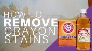How to remove CRAYON from Plastic Furniture with Baking Soda + Apple Cider Vinegar