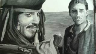 Pirates of The Caribbean Step by Step Portrait (Dry Brush Painting)