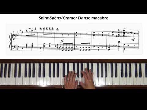 Saint-Saëns Danse Macabre (arr. Cramer) Piano Tutorial Part 1
