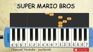 not pianika super mario bros - tutorial cover not pianika lagu game