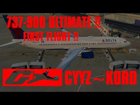 [X-Plane 11] Boeing 737-900 ULTIMATE Release Flight !! Toronto to Chicago [Quick & Dirty]