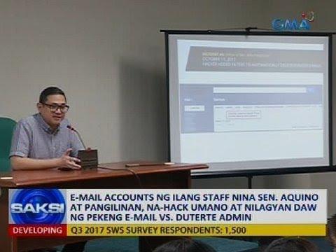 E-mail accounts ng ilang staff nina Sen. Aquino at Pangilinanan, na-hack umano