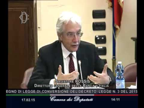 Roma - Audizione Rossi, Direttore generale Bankitalia (17.02.15)