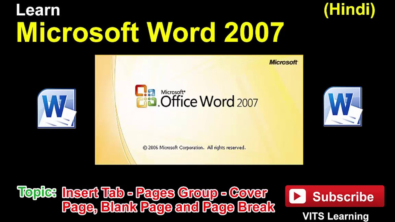 25 microsoft word 2007 insert tab pages group cover page blank page