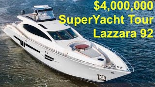 $4,000,000 Super Yacht Tour : 2012 Lazzara 92