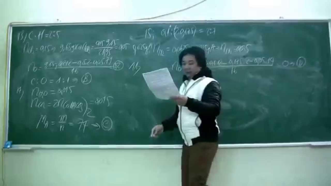 Thầy Thiết Cadic hướng dẫn bấm máy tính môn hóa 12 buổi 2