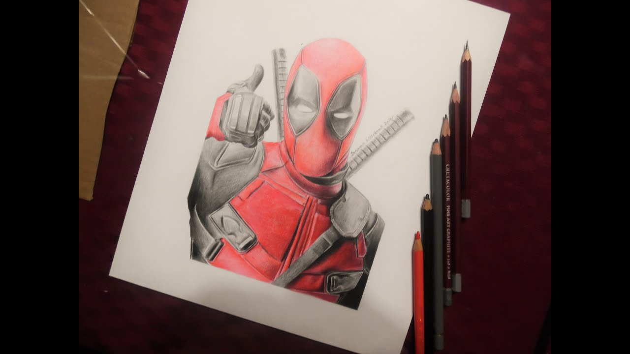 Deadpool Para Colorear Pintar E Imprimir: Imagenes Para Colorear De Deadpool Dibujo A Color Deadpool