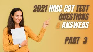 2021 NMC CBT PART-3 Mock Test Nursing (51-75) for UK & Ireland Sample Questions and Answers