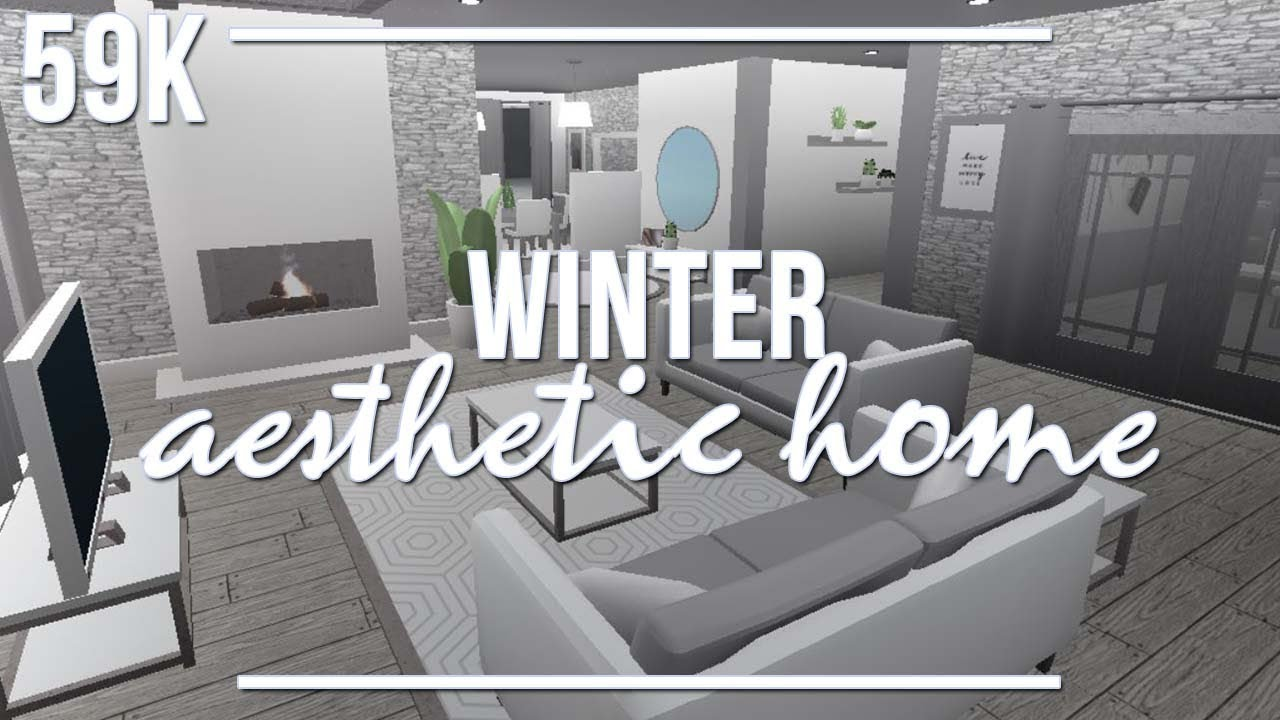 Roblox welcome to bloxburg winter aesthetic home youtube for Kitchen designs bloxburg