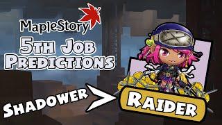 MapleStory 5th Job Predictions - Shadower To Raider!
