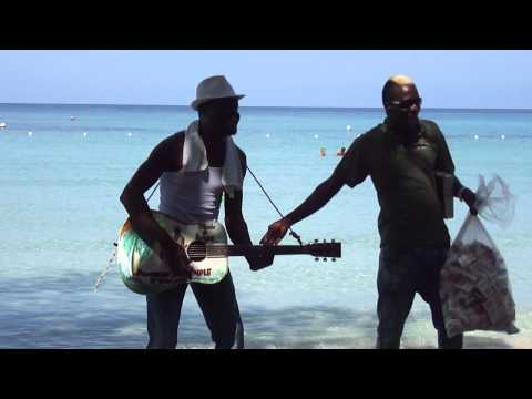 Donnavon Dalrymple and Cigar Man singing at Bloody Bay, Negril, Jamaica