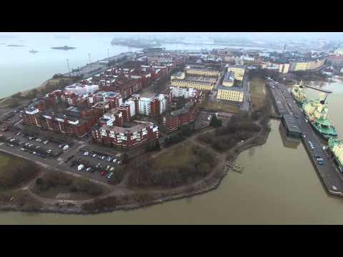 Korkeasaari, Tervasaari, Katajanokka in April, Helsinki - Phantom 3 Professional