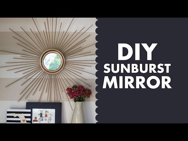 DIY Gold Mid Century Modern Sunburst Mirror