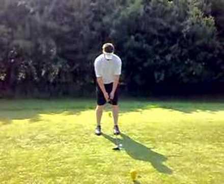 my tee shot on the 13th at ay park