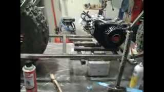 Mini Bike Frame Together