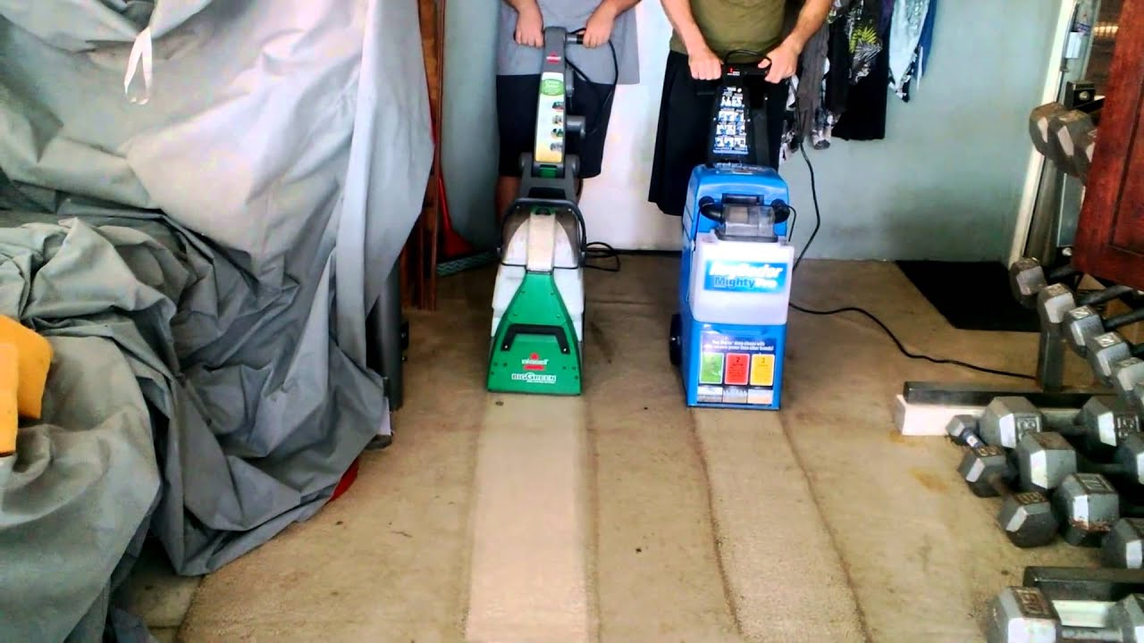 Comparision Rug Doctor Vs Bissell Big Green Deep Cleaning