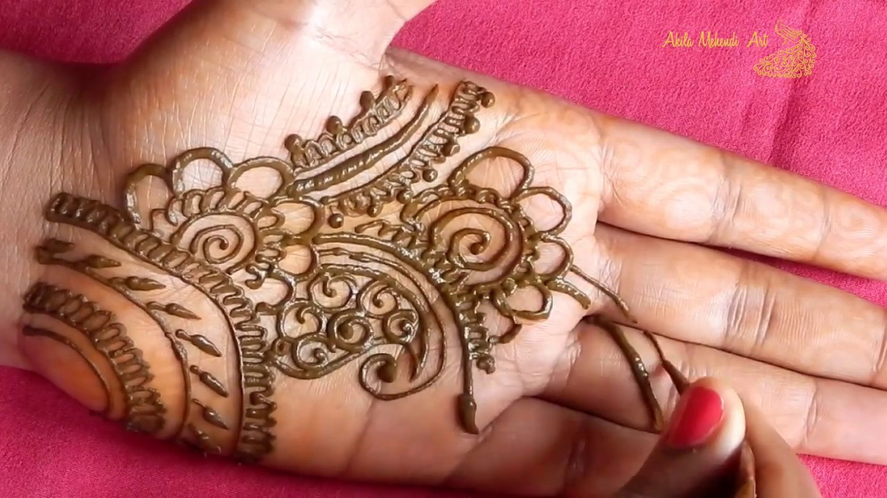 Easy Arabic Mehndi Design Front Hand Simple 2019