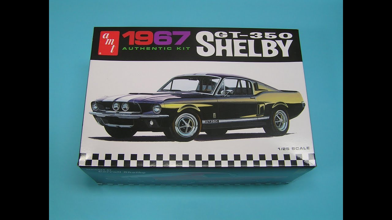 Ford Shelby Mustang GT 350 1967 125 AMT Unboxing YouTube