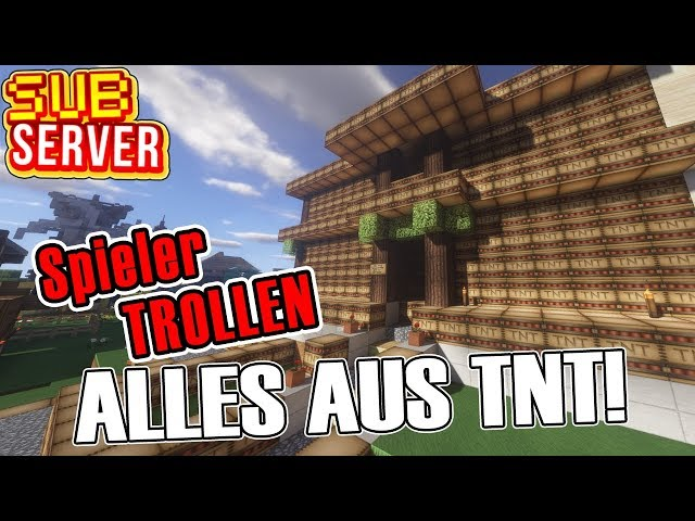 ALLES AUS TNT TROLL - Minecraft SubServer mit Items | Earliboy