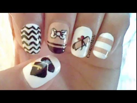 Graduation design- for short nails - Graduation Design- For Short Nails - YouTube