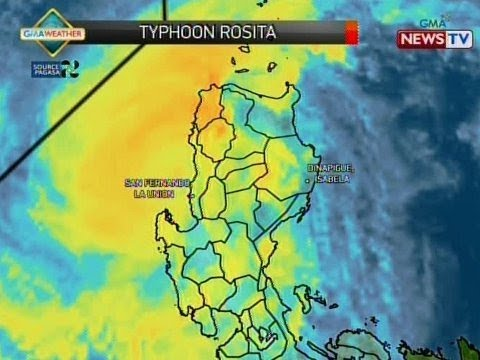 BP: Latest track ni Typhoon Rosita (Oct. 30, 2018)