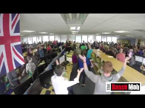 The Dance Mob performing a flashmob at the Beaumont Legal offices