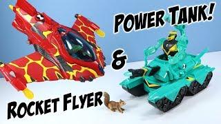 Ben 10 Reboot Heatblast Rocket Flyer and Diamondhead Power Tank Toys