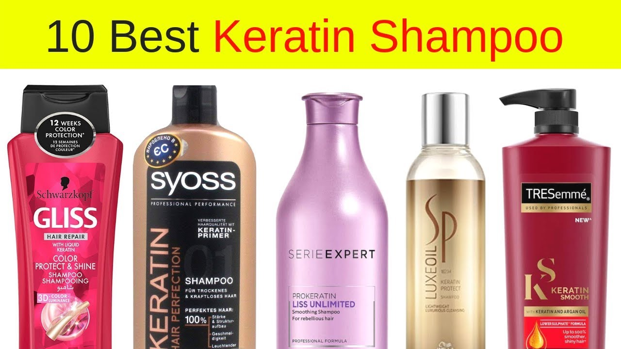 Top 10 Best Keratin Shampoos For Damaged Hair In India With Price I Keratin Treatment Products Youtube