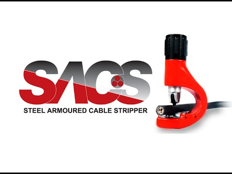 Steel Armoured Cable Swa Stripper Sacs Tool Youtube