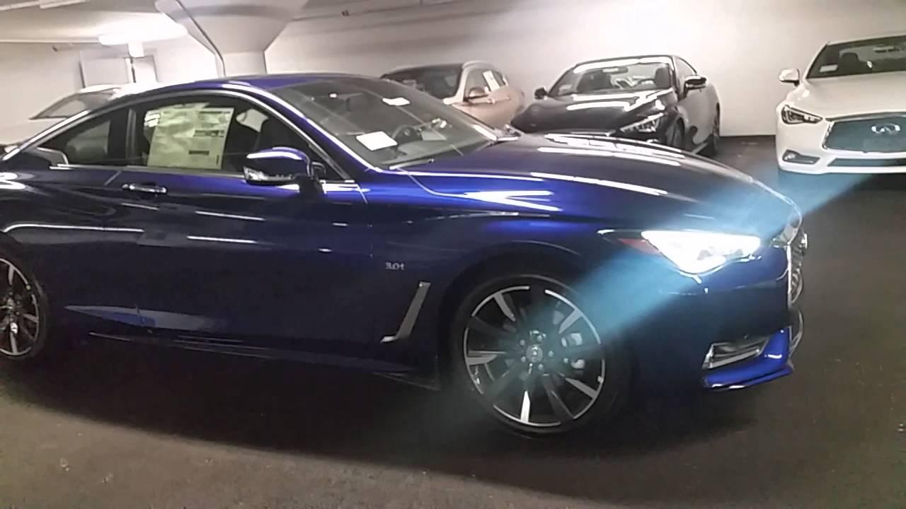 2017 Infiniti Q60 Coupe In Iridium Blue