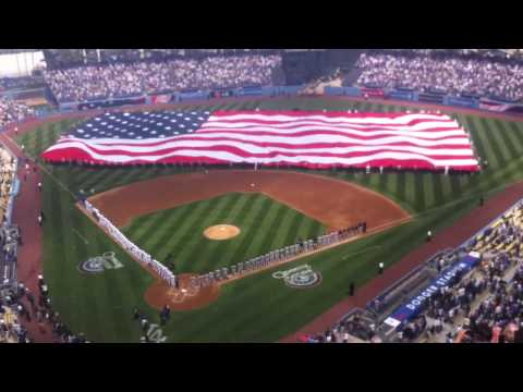 """""""Opening Day"""" Moment Of Silence And Star-Spangled Banner Ce"""