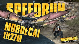 Borderlands Speedrun Mordecai Any% in 1:27:47