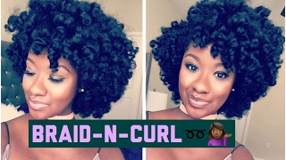super defined braid curl on natural hair
