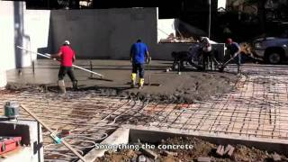 Pouring The Concrete Floor