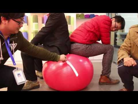 Anti-burst Yoga Ball Test